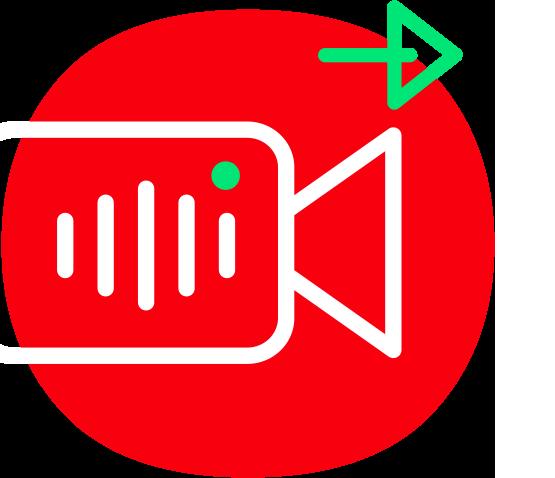 Audio- und Videoübertragung Icon