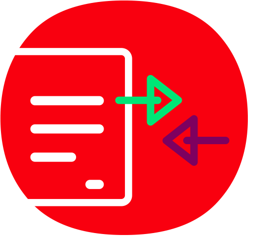Dateiaustausch Icon