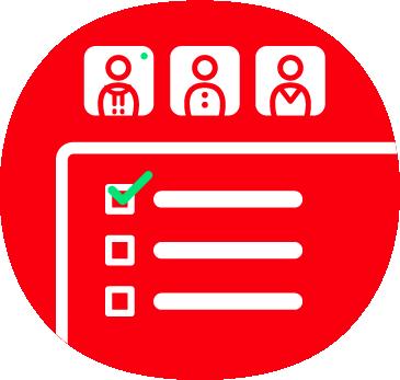 Gruppenumfragen Icon