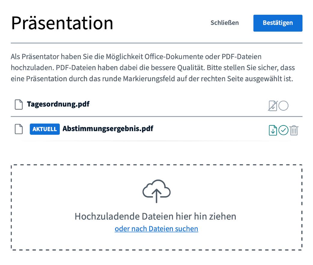 Funktion: Dateiupload Screenshot